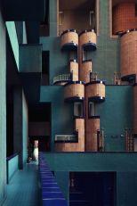 Udvarra néző erkélyek / Forrás: ricardobofill.com
