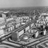 A sugárút látképe a tévétoronyból (1970) / Kép forrása: Fortepan - adományozó: Nagy Gyula