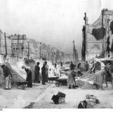 Zajlik a romok eltakarítása / Kép forrása: Bundesarchiv