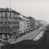 A Grosse Frankfurter Strasse látképe a II. világháborús pusztítások előtt / Kép forrása: Peter Franke-gyűjtemény