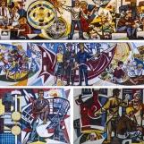 Walter Womacka Haus des Lehrersen lévő mozaikjai / Fotó: Vékony Zsolt