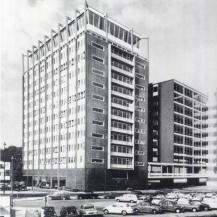 A Havengebouw látványterve, a meg nem valósult másik épülettel